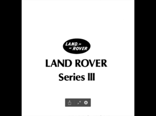 Full Repair manual Land Rover Series III 1971/85
